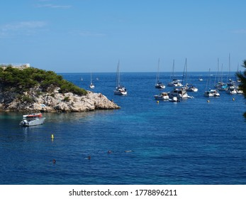 A panoramic view of the calanque d'en-Vau of Marseiile