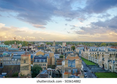 Panoramic view of Cambridge, UK.
