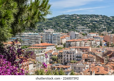 Panoramic view of Cannes city, Cote d'Azur, France.