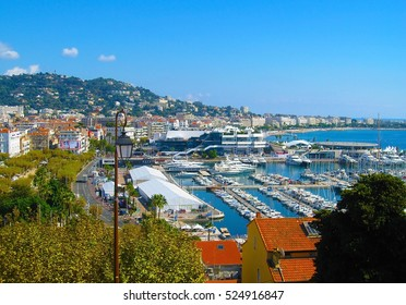 Panoramic view of Cannes city, Cote d'Azur, France