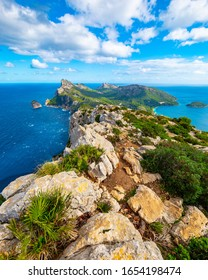 Panoramic view of the Cape Formentor. Majorca, Balearic Islands, Spain