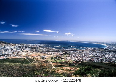 Panoramic view of cape town, western cape, south africa