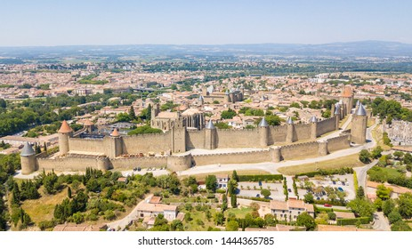panoramic view of carcassone chateau, France