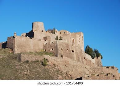 Panoramic view of the Castle of Cardona, Catalonia, Spain