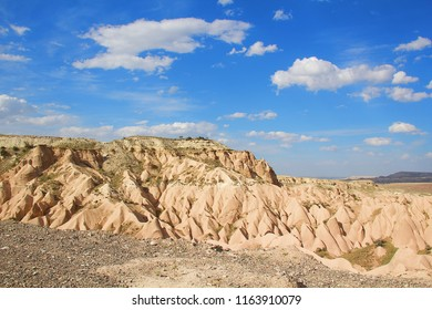 Panoramic view of Cave town and rock formation in Zelve Valley in Cappadocia,Turkey.
