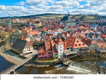 Panoramic view of Cesky Krumlov
