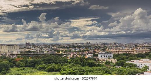 Panoramic view of Chennai