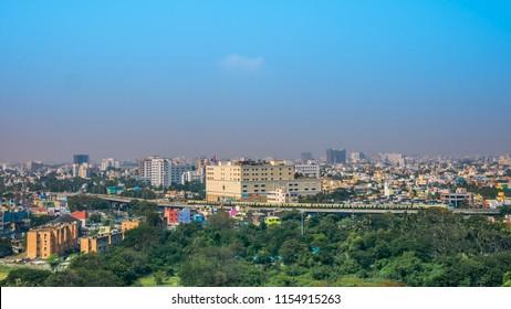 Panoramic view of Chennai, India.