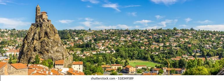 Panoramic view at the church Saint Michel d Aiguilhe - Le Puy en Velay