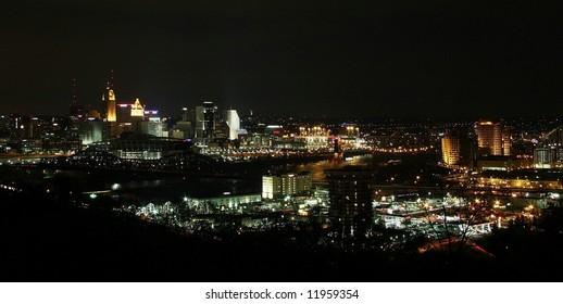 Panoramic View of Cincinnati