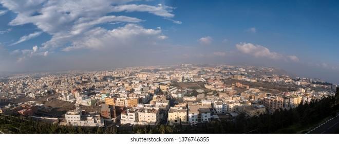 Panoramic view of the city of Abha in western Saudi Arabia