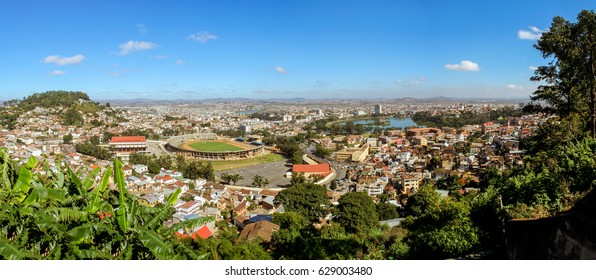 Panoramic view of the city of Antananarivo, capilal of Madagascar