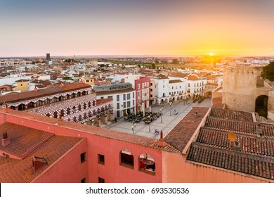 panoramic view City of Badajoz