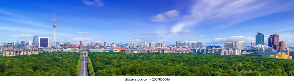 panoramic view at the city center of berlin - Shutterstock ID 2007853046