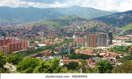 Panoramic view of the city of Medellin, Antioquia - Colombia