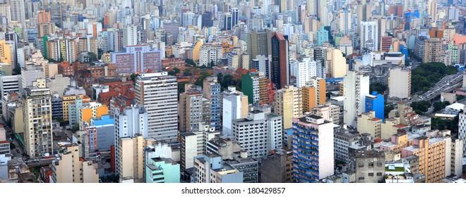 Panoramic view of city of Sao Paulo Brazil