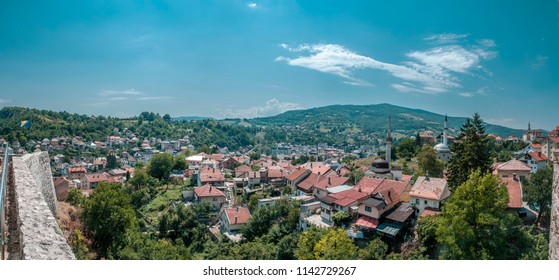 Panoramic view of the city of Travnik from Travnik Castle.