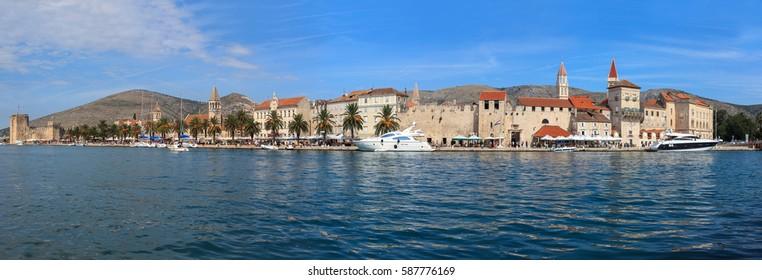 Panoramic view of the city of Trogir, in Croatia