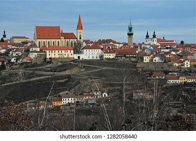 panoramic view, city Znojmo, Czech republic,Europe
