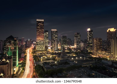 Panoramic view of cityscape and city skyline in Shanghai China