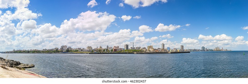 Panoramic view of the cityscape from the Morro Castle in Havana, Cuba