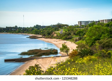 Panoramic view of the coast of Colonia del Sacramento, Uruguay