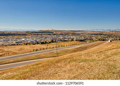 Panoramic view of Cochrane Alberta
