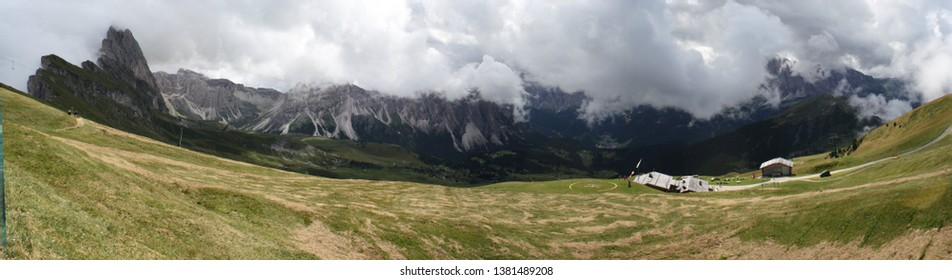 Panoramic view of the Col Raiser, South Tyrol, Italy