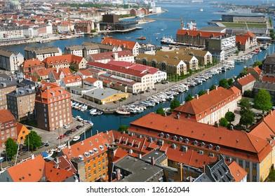 Panoramic view of Copenhagen. Denmark