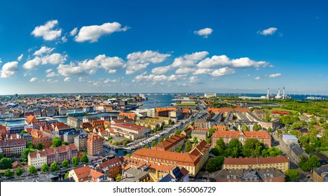 Panoramic view of Copenhagen, Denmark