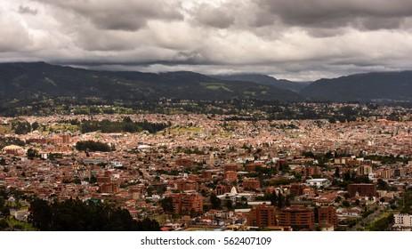 Panoramic view of Cuenca, Ecuador