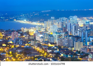 Panoramic view of Viña del Mar, V Region of Valparaiso, Chile