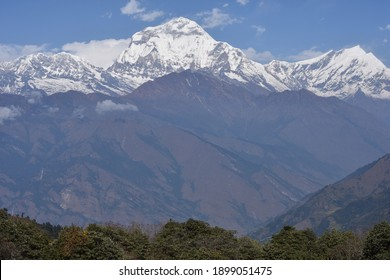 panoramic view from deurali pass poon hill rek - Shutterstock ID 1899051475