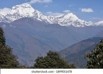 panoramic view from deurali pass poon hill rek - Shutterstock ID 1899051478