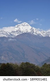 panoramic view from deurali pass poon hill rek - Shutterstock ID 1899051481