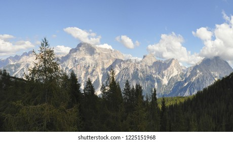 Panoramic view of the Dolomites from mount Pelmo (Italy, Belluno)