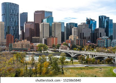 Panoramic view of downtown Calgary, Alberta, Canada.