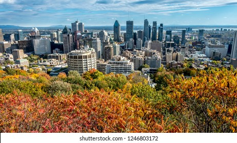 Panoramic view of the Downtown Montreal