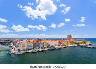 Panoramic view of downtown Willemstad, Curacao