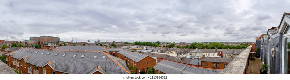 Panoramic view at Drumcondra neighbourhood. Dublin, Ireland
