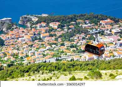 Panoramic view of Dubrovnik from hill, Croatia