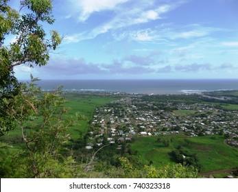 Panoramic view of the east side Kauai, Hawaii