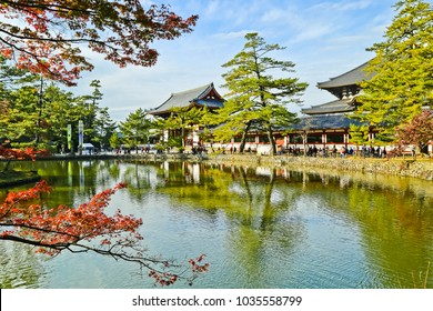 panoramic view of eastern great temple and its garden nara japan
