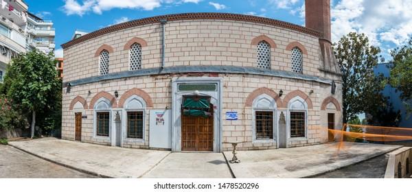 Panoramic view of Ebul Fadil Mehmet Efendi which was built by Sir Ebul Fadil Mehmet in 1554 at Tophane,Beyoglu,Istanbul,Turkey.25 July 2019