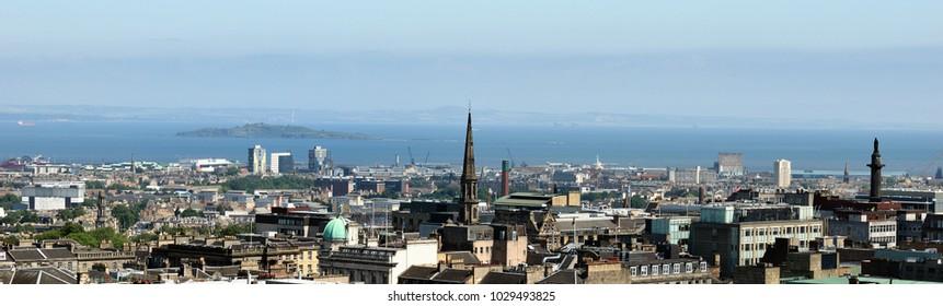 Panoramic view of Edinburgh, Scotland