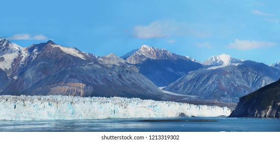 Panoramic View of the Endicott Glacier in Alaska