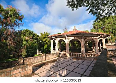 Panoramic view of the Enrique Estrada Park, in Zacatecas Mexico.