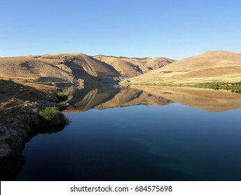 Panoramic view of Euphrates river in Mesopotamia, Turkey,