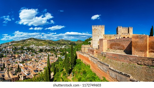 Panoramic view from the famous Alhambra, Granada