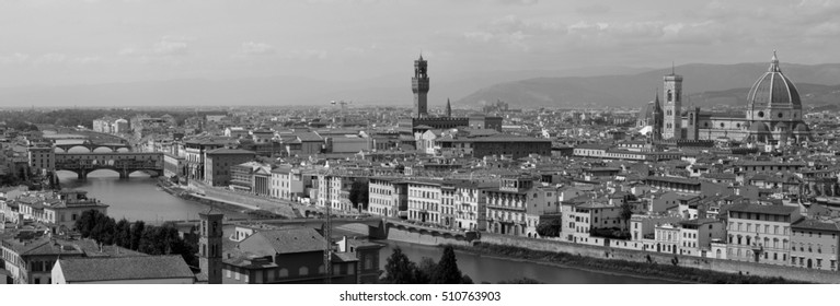 Panoramic view of Florence city (Tuscany, Italy)